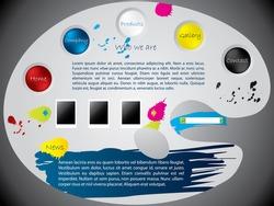 Paint palette website template design