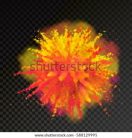 paint powder explosion on