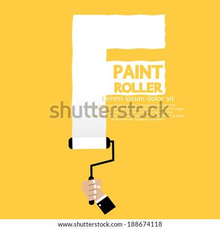 Paint Roller Alphabet F  Foto stock ©