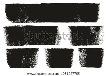 Paint Roller Bold Lines High Detail Abstract Vector Lines & Background Set 103