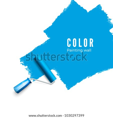 paint roller brush color paint