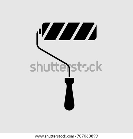 Paint roller. Vector icon