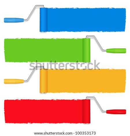 paint rollers  vector eps10