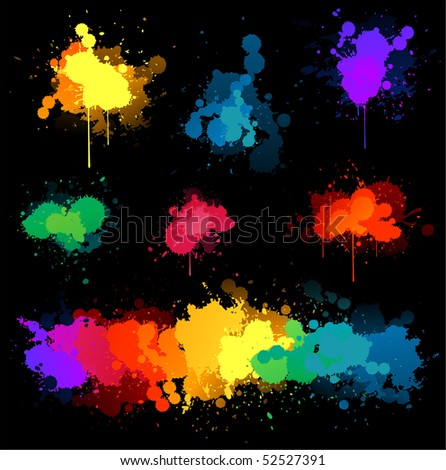 Paint Splat Black Background Paint Splats on Black