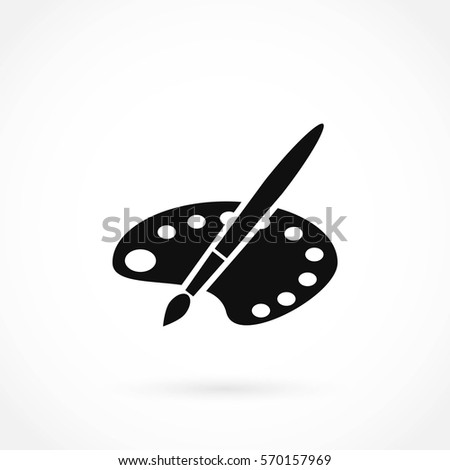 paint vector icon, flat design best vector icon