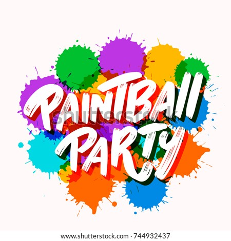 Paintball party banner. Stock photo ©