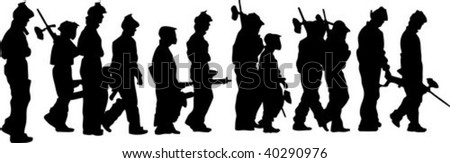 paintball players silhouettes , vector illustration