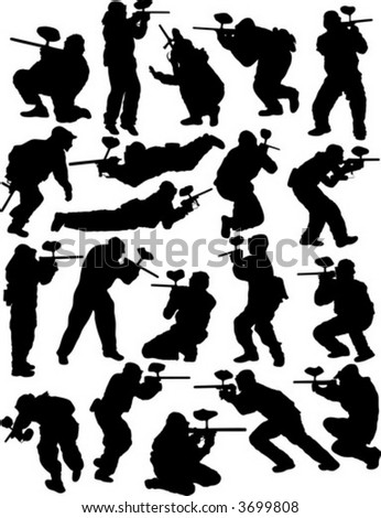 Paintball silhouettes