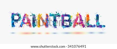 PAINTBALL. Word written spray paint Stock photo ©