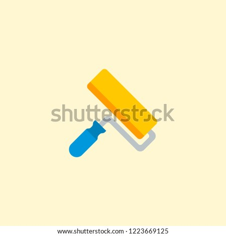Paintbrush icon flat element. Vector illustration of paintbrush icon flat isolated on clean background for your web mobile app logo design.