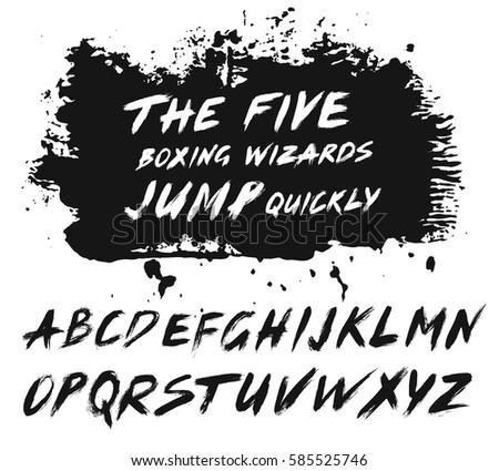 Alternative Letters In Sentence Bold Grunge Handwritten Font Sans Serif