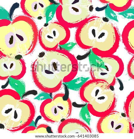 painted apple pattern seamless