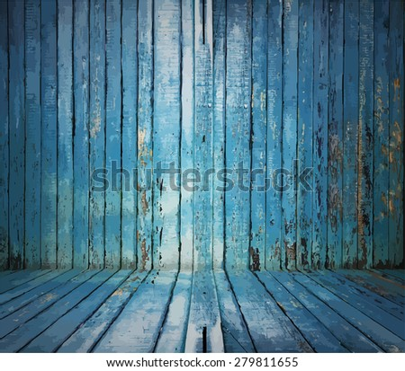 painted old wooden wall blue