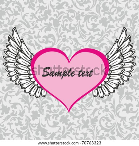 clip art angel wings. heart with angel wings