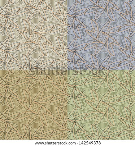 painted seamless abstract pattern