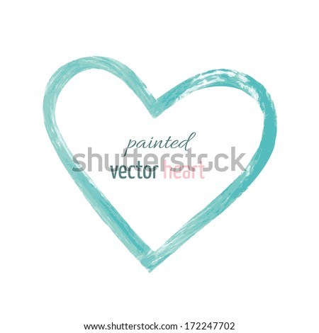 painted vector isolated heart