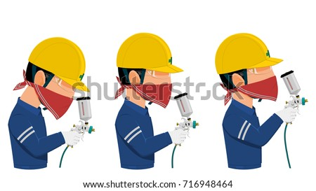 painter with safety glasses and