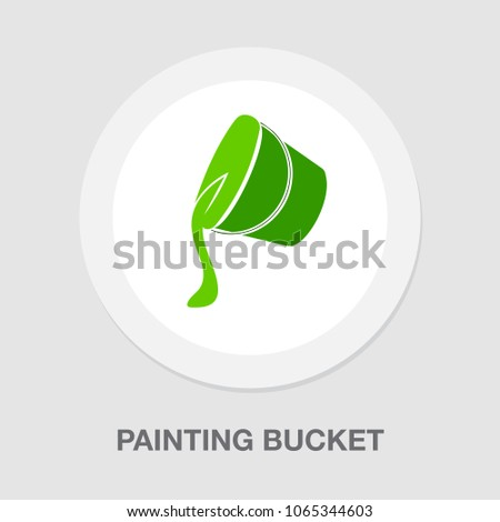 painting bucket icon  vector