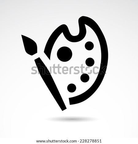 painting icon isolated on white