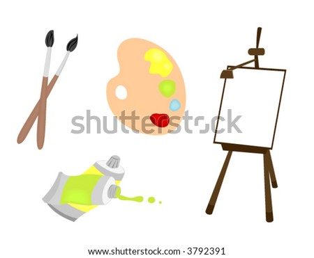 Painting Icons - Vector