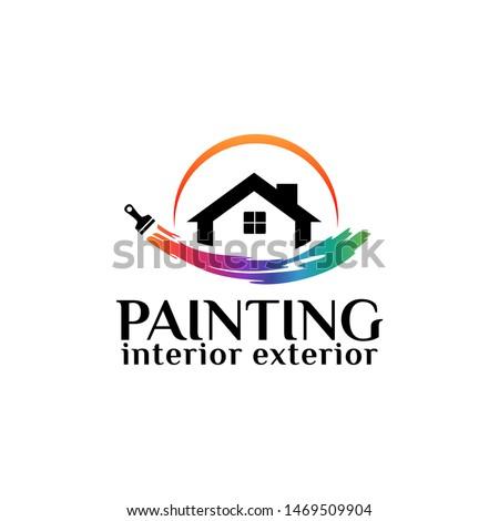 painting logo template design