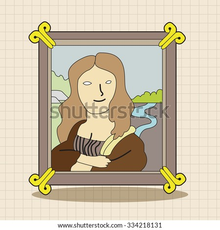 painting mona lisa theme