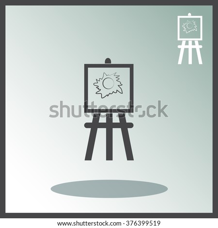 painting stand painting icon