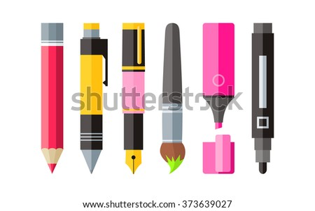 painting tools pen pencil and