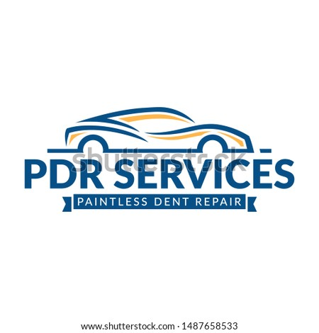 Paintless Dent Repair logo, PDR service logo, automotive company