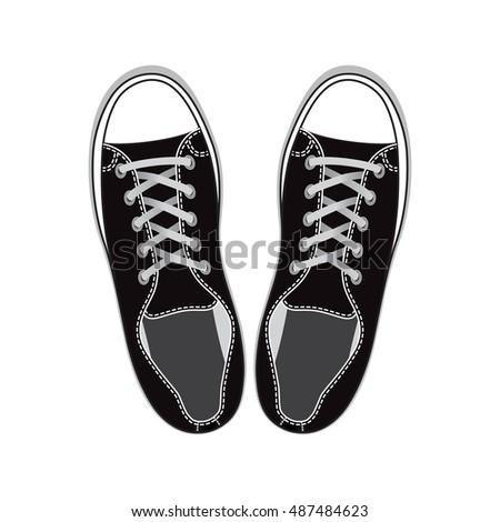pair of black gumshoes teenage