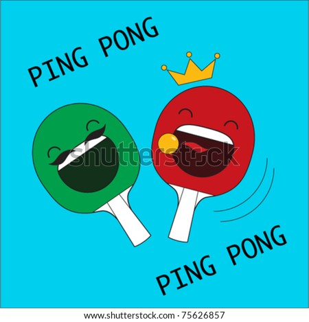 pair of laughing ping pong rockets