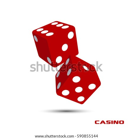 pair of red casino dice