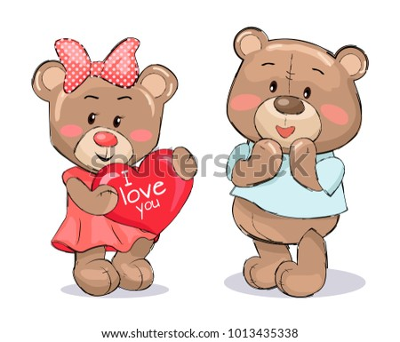 stock-vector-pair-of-soft-fluffy-teddies-female-holds-heart-with-text-i-love-you-male-little-confused-with
