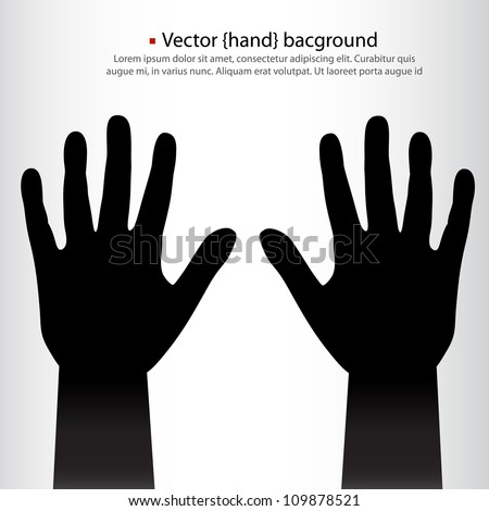 pair of vector hands background.