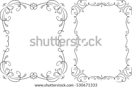 black and white border designs for cards