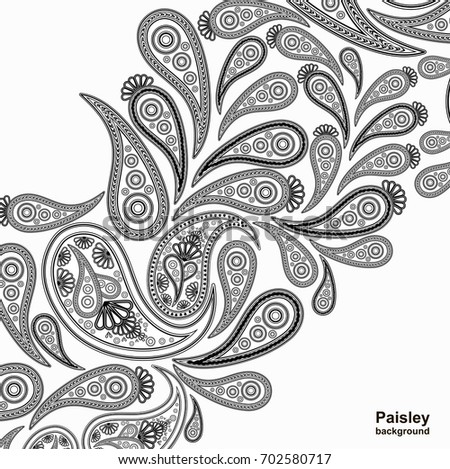 Vector Paisley Designs Download Free Vector Art Stock Graphics Custom Indian Design Patterns