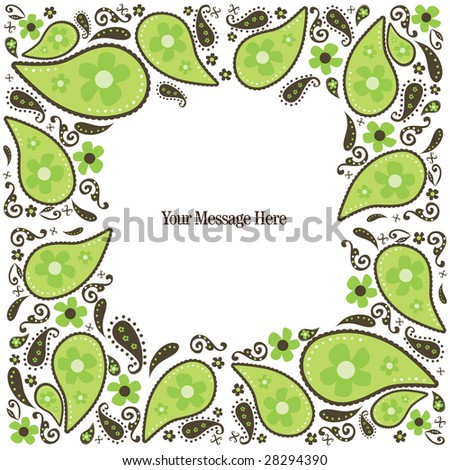 Paisley Border Card/Invitation