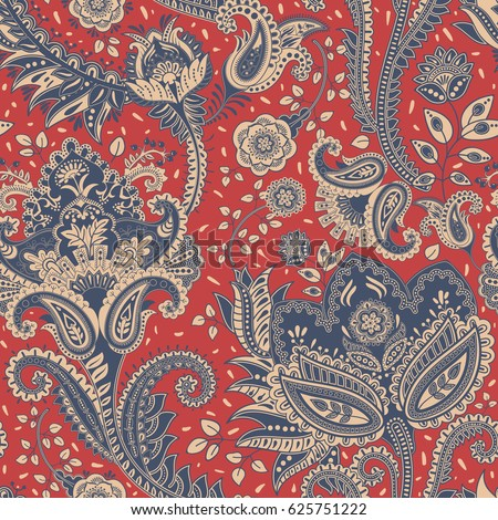 paisley floral seamless pattern....