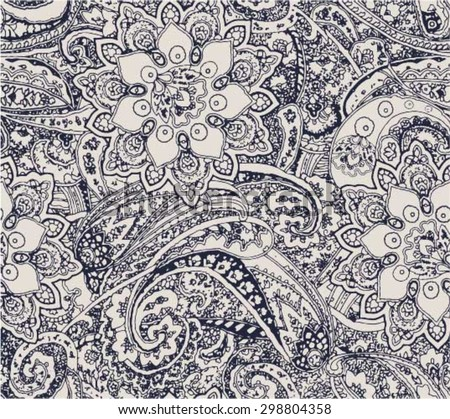 paisley floral seamless