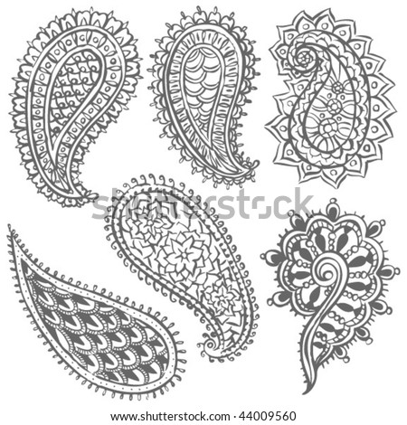 stock vector : Paisley Illustrations