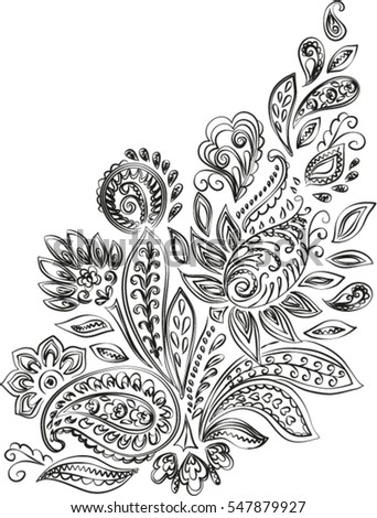 Vector Images Illustrations And Cliparts Paisley Mehendi Henna