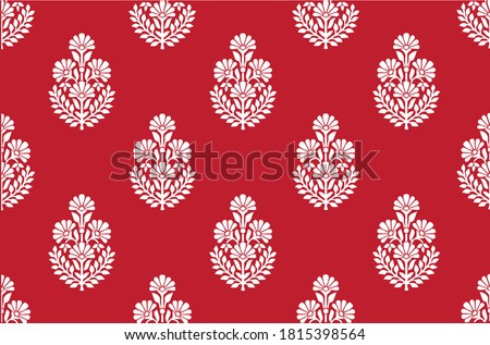 Paisley motifs seamless pattern indian ornamentation or floral pattern.