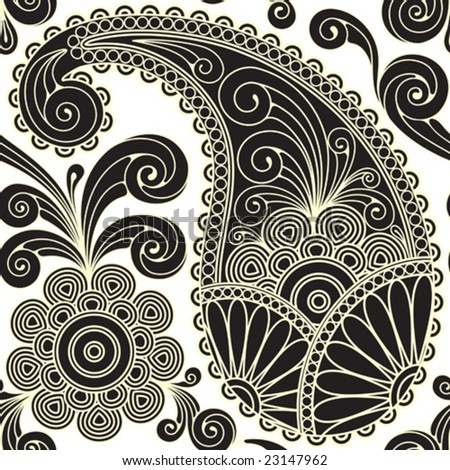 stock vector : paisley seamless
