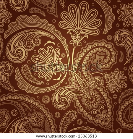 stock vector paisley seamless background
