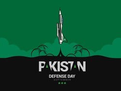 Pakistan Defense Day celebrate on 6th of September.Pakistan air force jet take off.