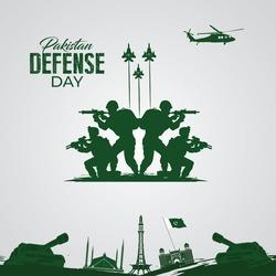 Pakistan defense day. Celebration concept. September 6.Template for background, banner, card, poster.  vector illustration.