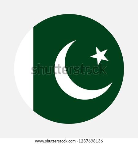 Pakistan flag circle, Vector image and icon