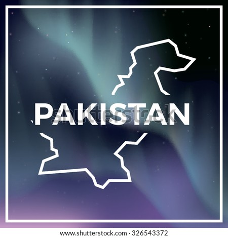 pakistan map against the