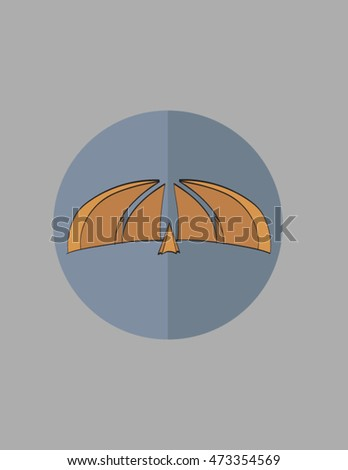 pakistan monument flat logo