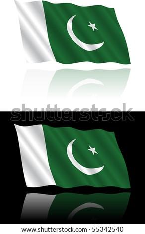 Pakistani Flag Flowing